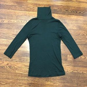 Forest Green Turtle Neck with 3/4 Length Sleeves